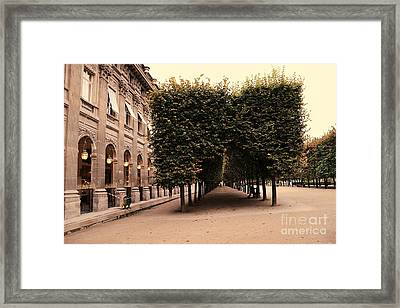 Paris Palais Royal French Palace - Paris Palais Royal Architecture - Paris Autumn Fall Trees  Framed Print