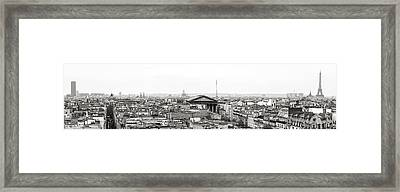 Paris Panorama Framed Print by For Ninety One Days