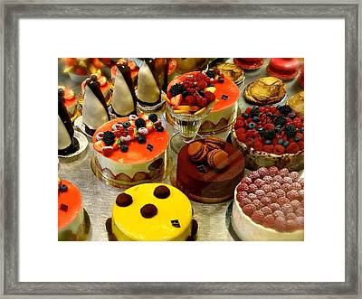 Paris Pastry Pause Framed Print