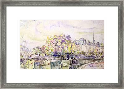 Paris Framed Print by Paul Signac