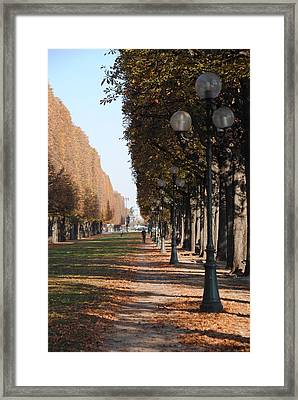 Paris Peaceful Afternoon Framed Print by Jacqueline M Lewis