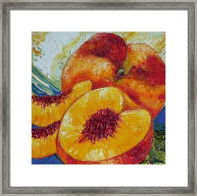 Paris' Peach Framed Print by Paris Wyatt Llanso