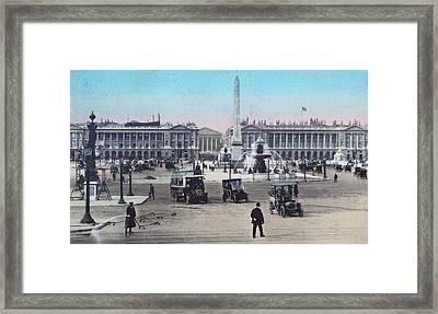 Paris Place De La Concorde 1910 Framed Print by Ira Shander