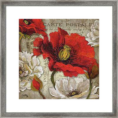 Paris Postcard II Framed Print by Elizabeth Medley