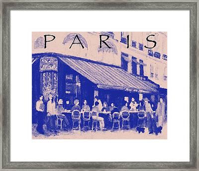 Paris Poster 3 Framed Print