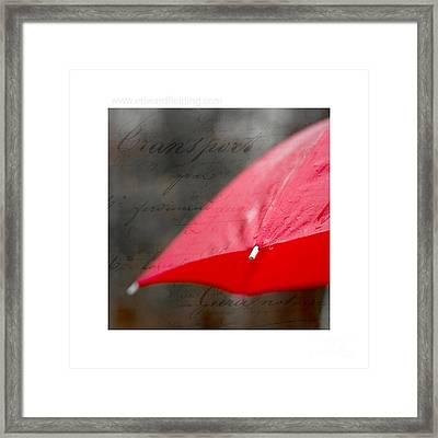 Paris Rains Original Signed Mini Framed Print