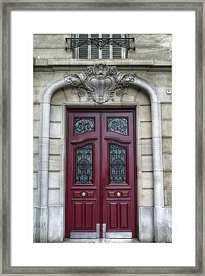 Paris Red Framed Print