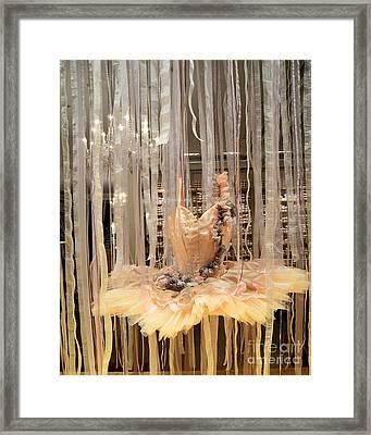 Paris Repetto Ballerina Tutu Dress Shop Window Display - Repetto Ballerina Ballet Tutu Art  Framed Print by Kathy Fornal