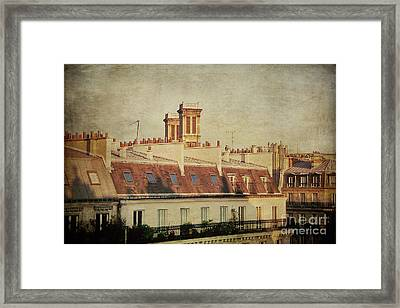 Paris Rooftops Framed Print by Ivy Ho
