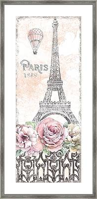 Paris Roses Panel Viii Framed Print by Beth Grove