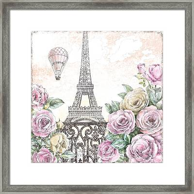 Paris Roses Vi Framed Print