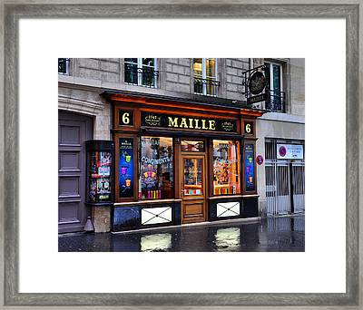 Paris Shop Framed Print