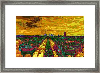 Paris Skyline Pop Art Framed Print by Eti Reid