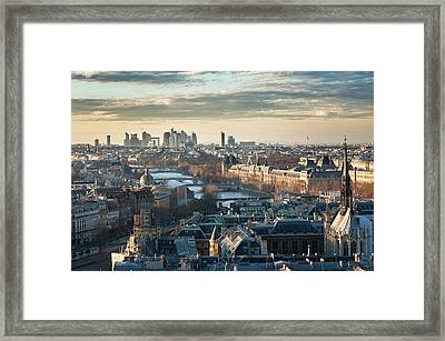 Paris Skyline View From Notre-dame Framed Print by © Philippe Lejeanvre