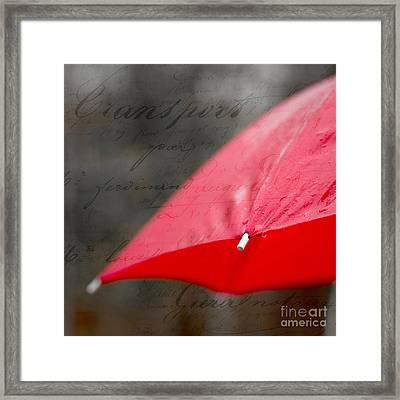 Paris Spring Rains Framed Print by Edward Fielding