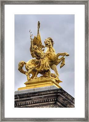 Paris Statue Framed Print by Ioan Panaite