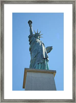 Framed Print featuring the photograph Paris Statue Of Liberty by Kay Gilley
