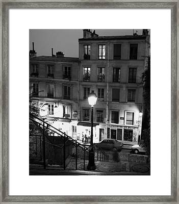 Paris-steps-montmartre Framed Print