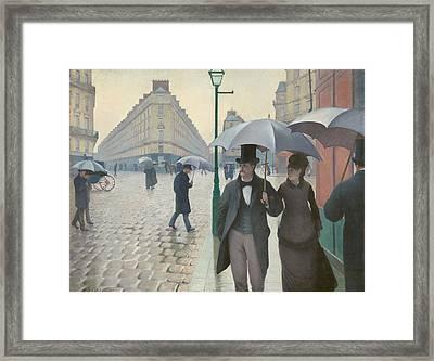 Paris Street In Rainy Weather Framed Print