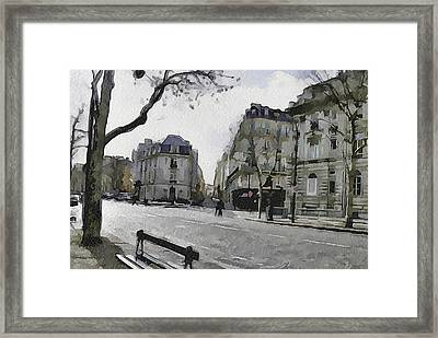 Paris Streets 1 Framed Print by Yury Malkov