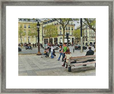 Paris Streets 4 Framed Print by Yury Malkov