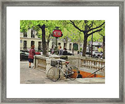 Paris Streets 5 Framed Print by Yury Malkov