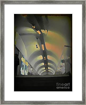 Paris Subway Tunnel Framed Print