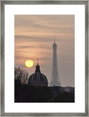 Paris Sunset I Framed Print