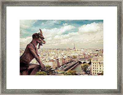 Paris - The City From Above Framed Print