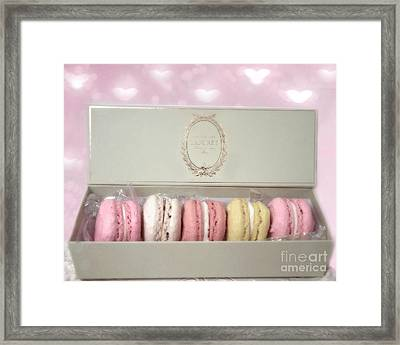 Paris Macarons Laduree Tea Shop Patisserie - Dreamy Laduree Box Of French Macarons - Paris Macarons Framed Print by Kathy Fornal