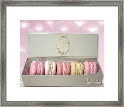 Paris Macarons Laduree Tea Shop Patisserie - Dreamy Laduree Box Of French Macarons - Paris Macarons Framed Print