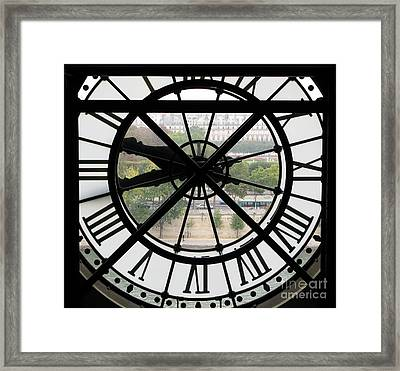 Framed Print featuring the photograph Paris Time by Ann Horn