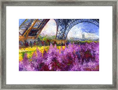 Paris Tour Eiffel 01 Framed Print by Yuriy  Shevchuk