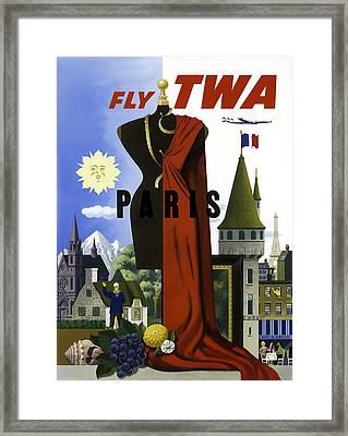Paris Twa Framed Print by Mark Rogan