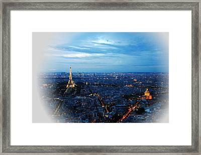 Paris View From Tour Montparnasse Framed Print by Jacqueline M Lewis