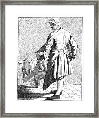 Paris Vinegar Seller, C1740 Framed Print