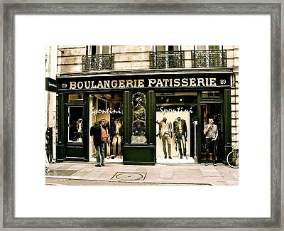 Framed Print featuring the photograph Paris Waiting by Ira Shander