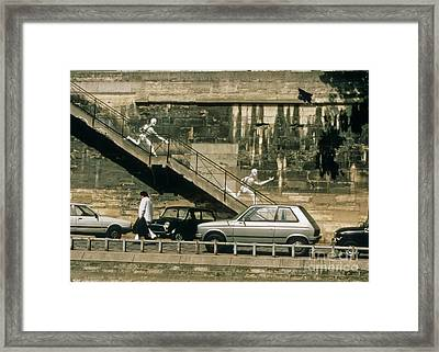 Paris Wall Framed Print by Thomas Marchessault