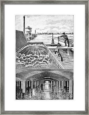 Paris Water Supplies, 19th Century Framed Print