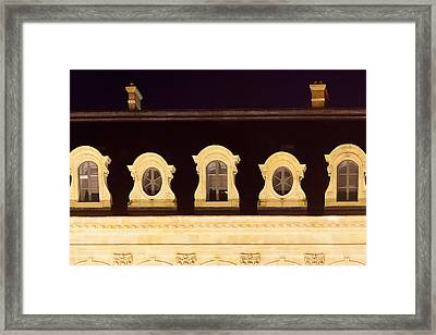 Paris Windows Framed Print by Art Block Collections
