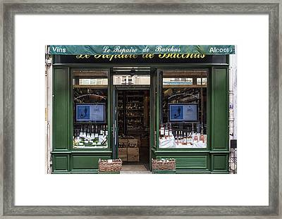 Paris Wine Store Framed Print