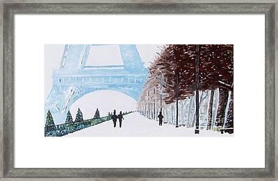 Paris Wintertime Framed Print by Kevin Croitz