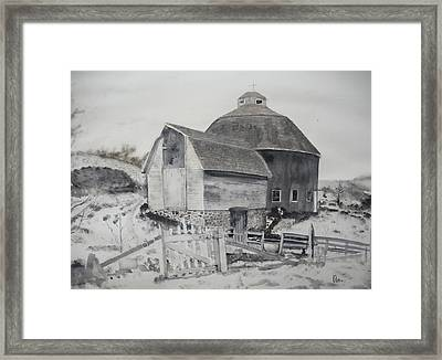 Parish Barn Framed Print