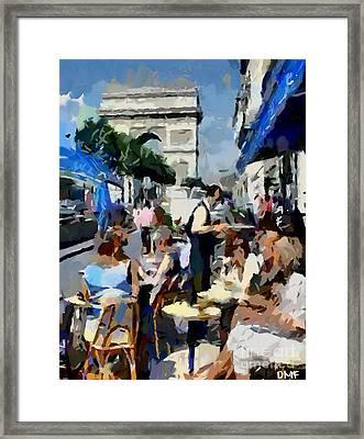 Parisian Cafe Framed Print by Dragica  Micki Fortuna