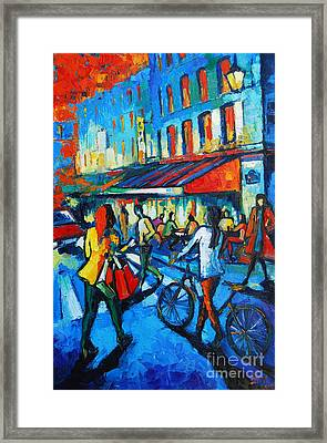 Parisian Cafe Framed Print by Mona Edulesco