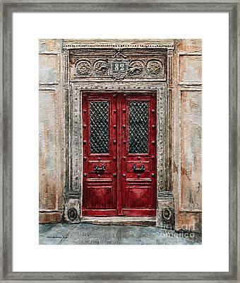 Parisian Door No.82 Framed Print