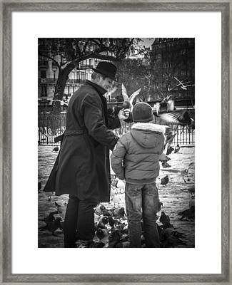 Parisian Father And Son Framed Print by Kaleidoscopik Photography