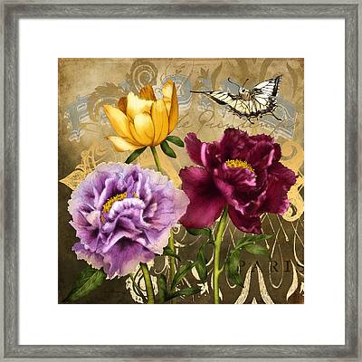 Parisian Peonies Framed Print by April Moen