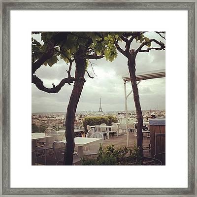 Parisian Rooftop Framed Print