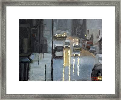 Parisian Storm Framed Print